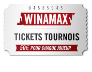 neuvième et unième à troicentième place Winamax tickets tournois